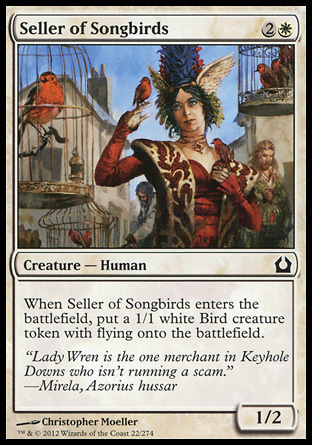VENDEDORA DE AVES CANTORAS / SELLER OF SONGBIRDS (REGRESO RAVNICA)
