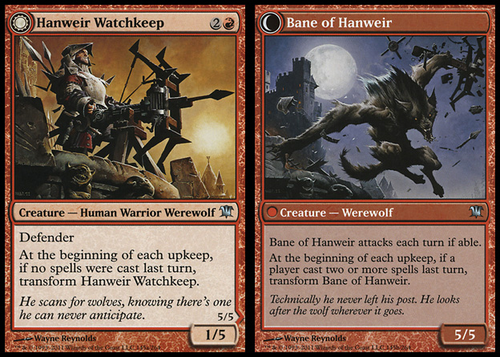 GUARDIA DE HANWEIR/RUINA DE HANWEIR / HANWEIR WATCHKEEP/BANE OF HANWEIR (INNISTRAD)