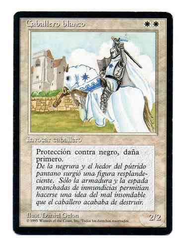CABALLERO BLANCO / WHITE KNIGHT (CUARTA BORDE NEGRO - ESPAÑOL EXCELLENT)