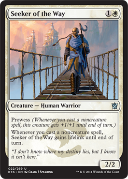 BUSCADOR DE LA SABIDURIA / SEEKER OF THE WAY (KHANS OF TARKIR)