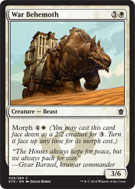 BEHEMOT BELICO / WAR BEHEMOTH (KHANS OF TARKIR)