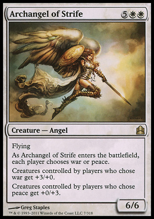 ARCANGEL DEL CONFLICTO / ARCHANGEL OF STRIFE (COMMANDER)