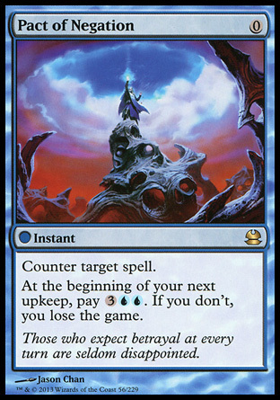 PACTO DE NEGACION / PACT OF NEGATION (MODERN MASTERS)