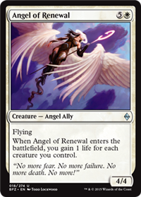 ANGEL DE LA RENOVACION / ANGEL OF RENEWAL (LA BATALLA POR ZENDIKAR)