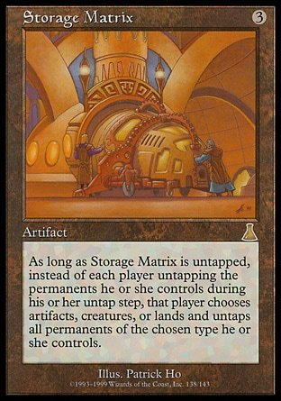 MATRIZ DE ALMACENAJE / STORAGE MATRIX (DESTINO URZA)