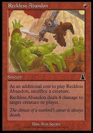 DESENFRENO TEMERARIO / RECKLESS ABANDON (DESTINO URZA)