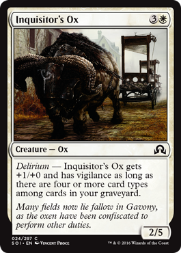 BUEY DEL INQUISIDOR / INQUISITOR'S OX (SOMBRAS SOBRE INNISTRAD)