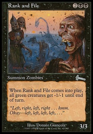SOLDADOS RASOS / RANK AND FILE (LEGADO DE URZA)