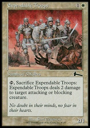 TROPAS SACRIFICABLES / EXPENSABLE TROOPS (LEGADO DE URZA)