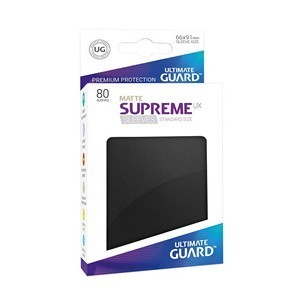 PAQUETE DE FUNDAS ULTIMATE GUARD SUPREME UX NEGRO MATE (80 FUNDAS)