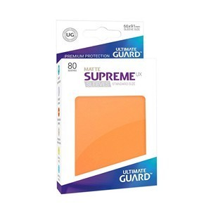 PAQUETE DE FUNDAS ULTIMATE GUARD SUPREME UX NARANJA MATE (80 FUNDAS)