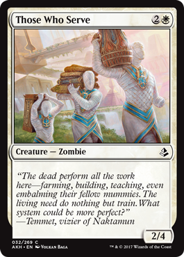 SIRVIENTES / THOSE WHO SERVE (AMONKHET)