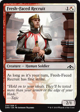 RECLUTA NOVATO / FRESH-FACED RECRUIT (GREMIOS DE RAVNICA)
