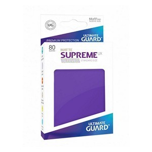 PAQUETE DE FUNDAS ULTIMATE GUARD SUPREME UX MORADO MATE (80 FUNDAS)