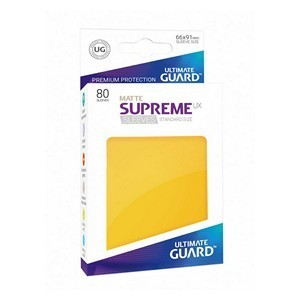 PAQUETE DE FUNDAS ULTIMATE GUARD SUPREME UX AMARILLO MATE (80 FUNDAS)