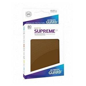 PAQUETE DE FUNDAS ULTIMATE GUARD SUPREME UX MARRON CAFE MATE (80 FUNDAS)