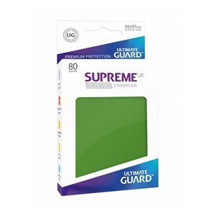PAQUETE DE FUNDAS ULTIMATE GUARD SUPREME UX VERDE MATE (80 FUNDAS)