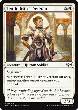 VETERANA DEL DISTRITO DECIMO / TENTH DISTRICT VETERAN (LA LEALTAD DE RAVNICA)