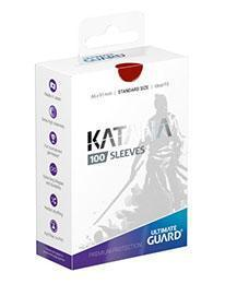 PAQUETE DE FUNDAS ULTIMATE GUARD KATANA COLOR ROJO (100 FUNDAS)