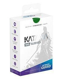 PAQUETE DE FUNDAS ULTIMATE GUARD KATANA COLOR VERDE (100 FUNDAS)