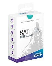 PAQUETE DE FUNDAS ULTIMATE GUARD KATANA COLOR TURQUESA (100 FUNDAS)