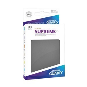 PAQUETE DE FUNDAS ULTIMATE GUARD SUPREME UX GRIS MATE (80 FUNDAS)