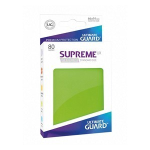 PAQUETE DE FUNDAS ULTIMATE GUARD SUPREME UX VERDE CLARO MATE (80 FUNDAS)