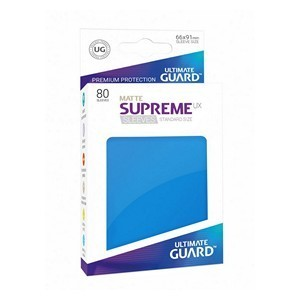 PAQUETE DE FUNDAS ULTIMATE GUARD SUPREME UX AZUL REAL MATE (80 FUNDAS)