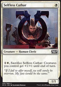 CATARO ALTRUISTA / SELFLESS CATHAR (M15)