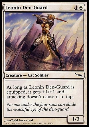 VIGILANTE DE LA GUARIDA LEONINA / LEONIN DEN-GUARD (MIRRODIN)