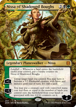 NISSA DE LAS RAMAS SOMBRIAS / NISSA OF SHADOWED BOUGHS (EL RESURGIR DE ZENDIKAR - ARTE ALTERNATIVO)